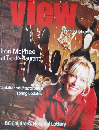 FEATURED ARTIST LORI MCPHEE COVER OF VIEW MAGAZINE
